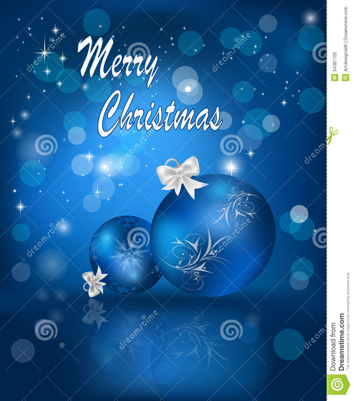 Blue christmas card royalty free stock photo image 34387705 - Is blue a christmas color ...