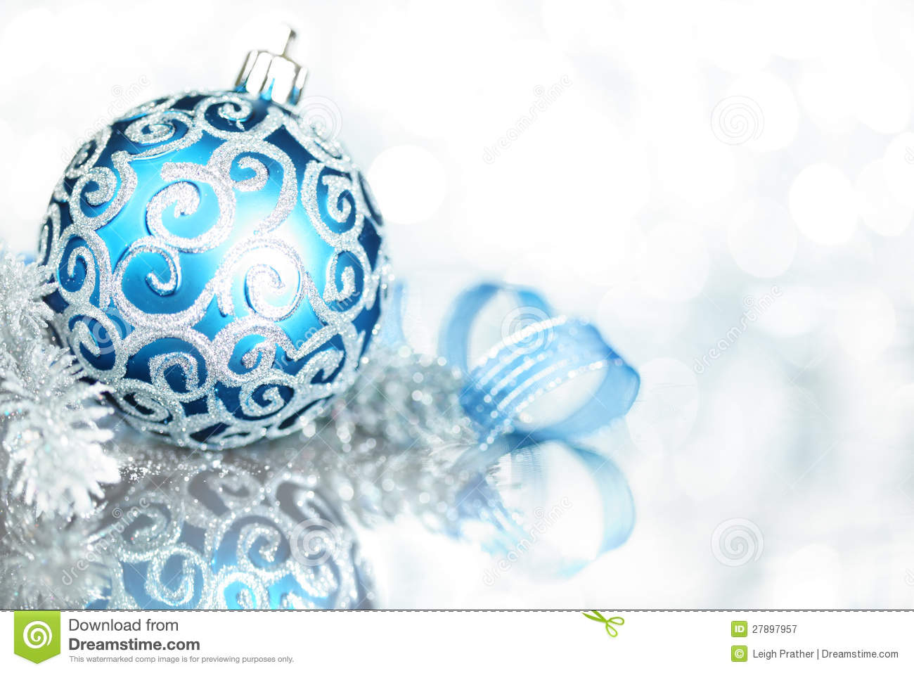 Blue Christmas Decorations Royalty Free Stock Photography Image 27897957