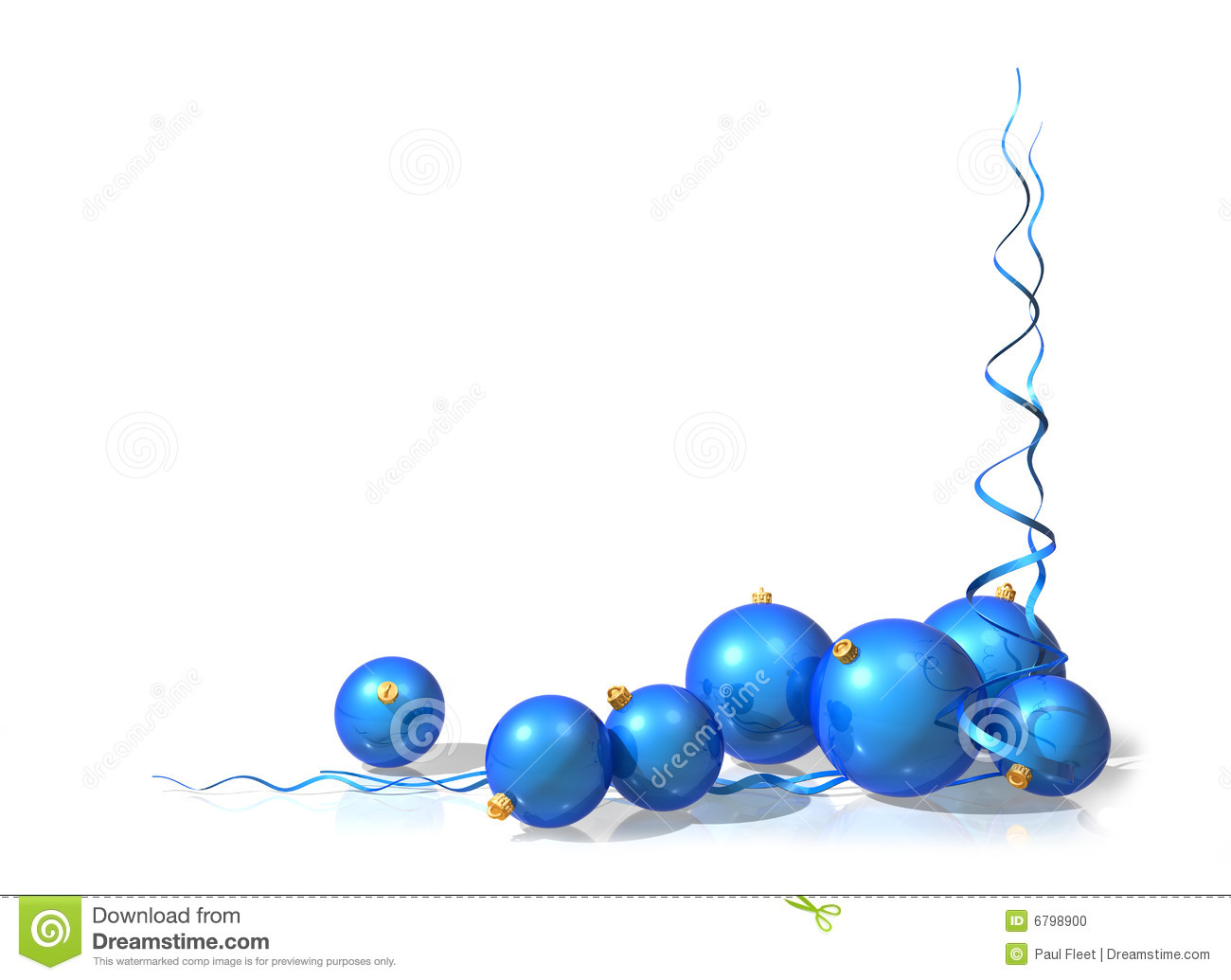 Blue Christmas Decorations Stock Photo - Image: 6798900