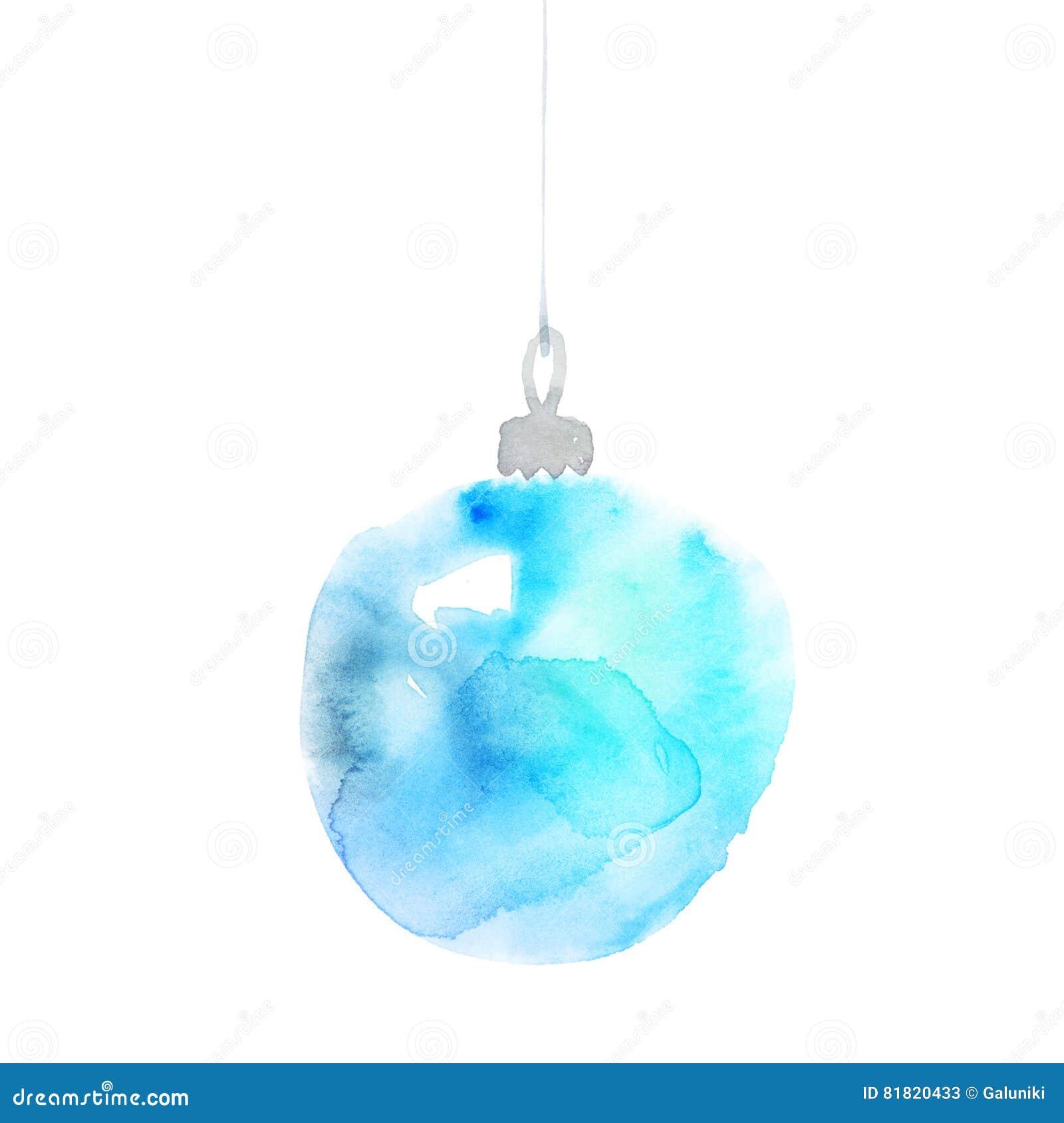 Hand Painted Elegant Xmas Bubbles Decor Cute Simple Christmas Tree Bulbs Decoration Design Element New Tear Decorative Background