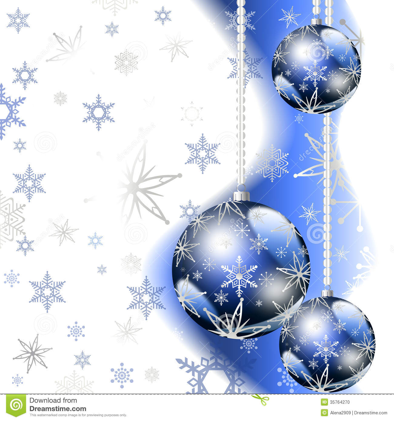 Blue Christmas Greeting Card Stock Photo Image 35764270