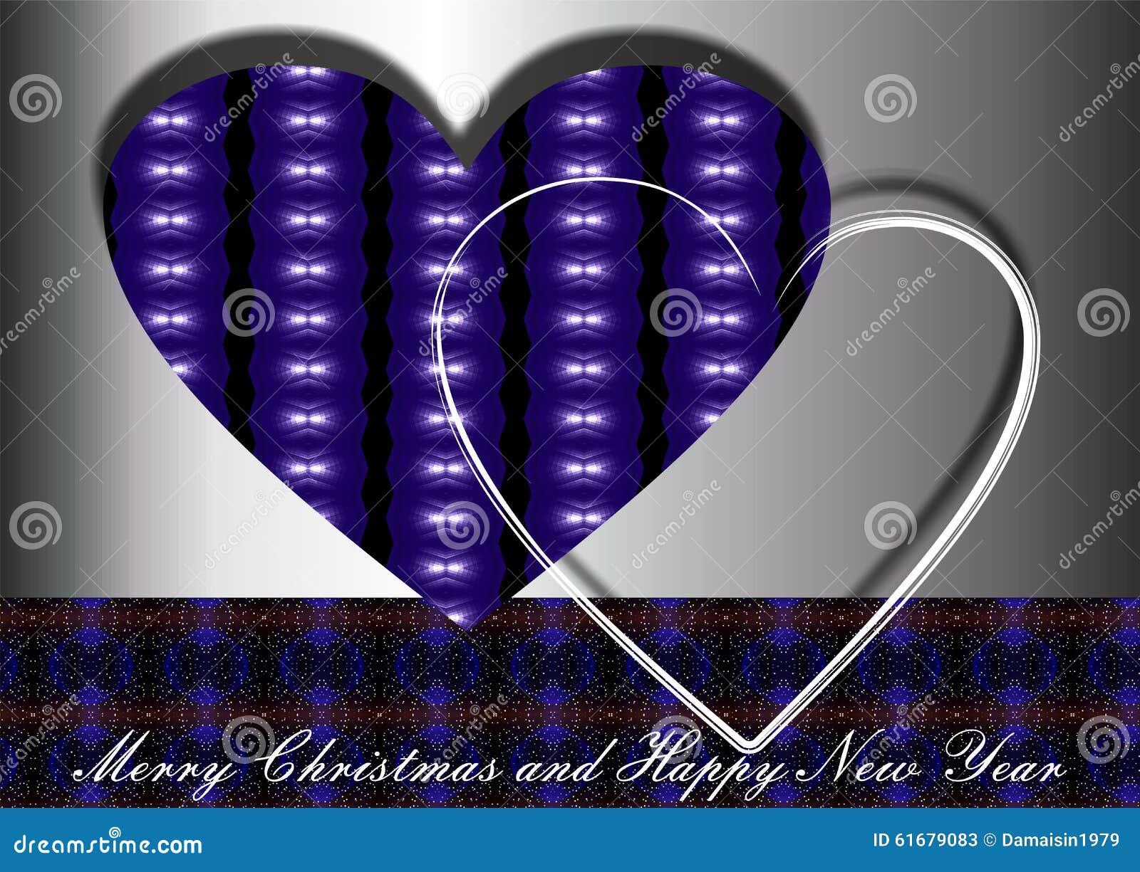 Blue christmas hearts stock illustration of