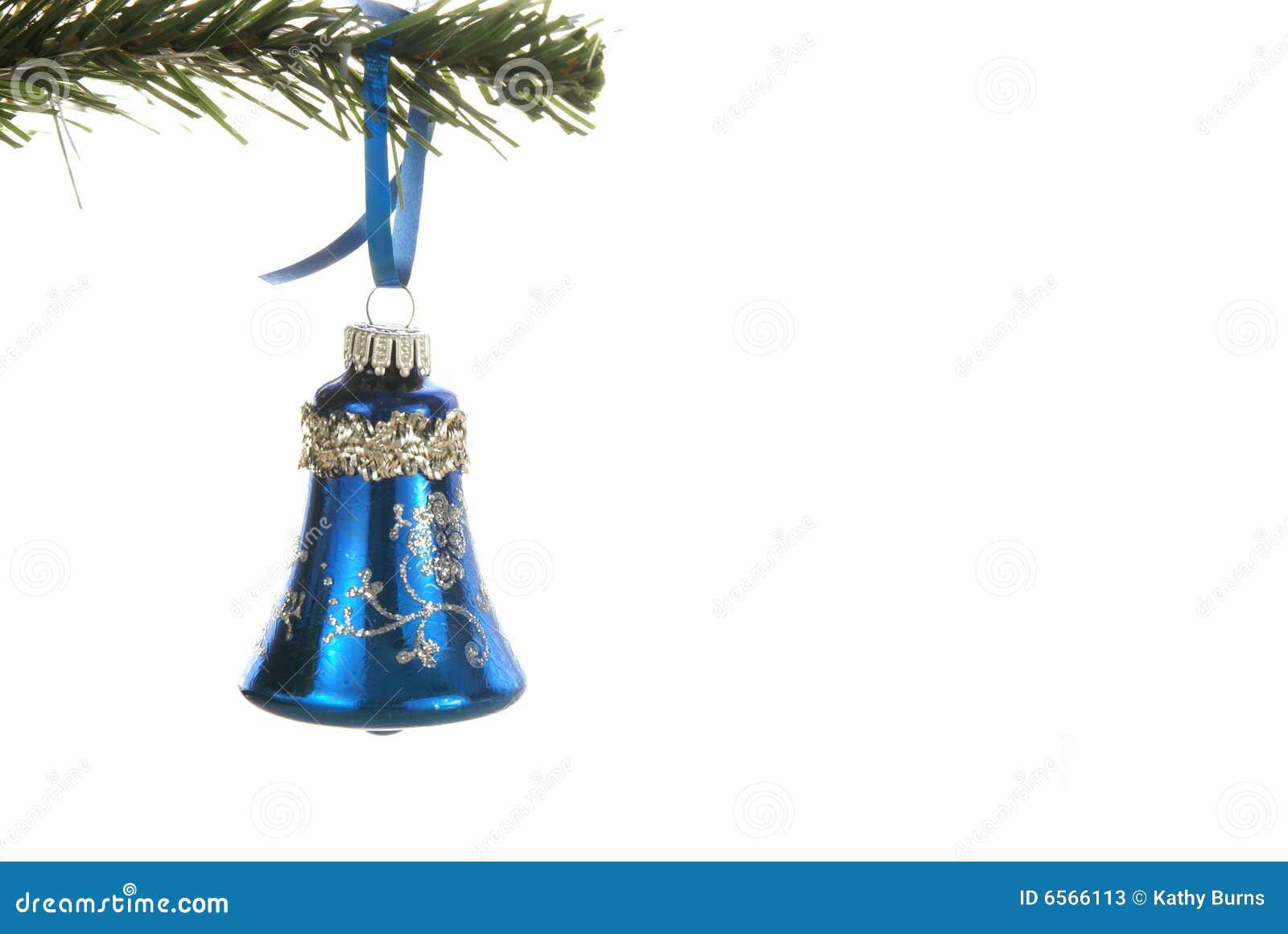 Bell christmas ornament - Blue Christmas Ornament