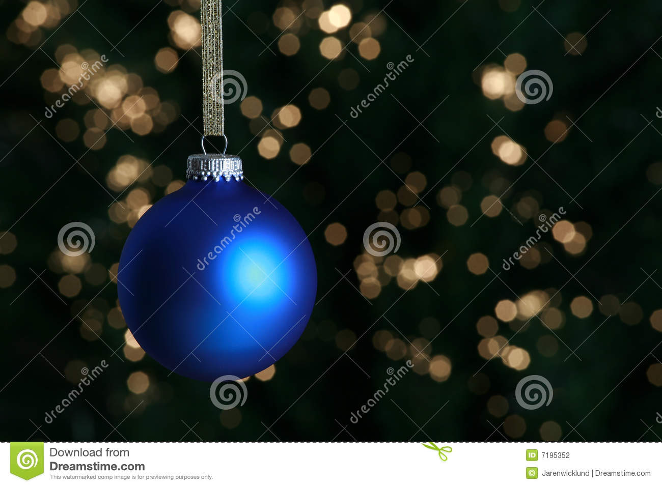 Blue christmas ornament