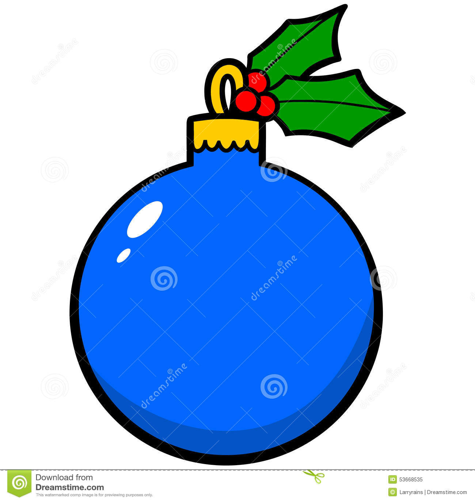 christmas ornament cartoon