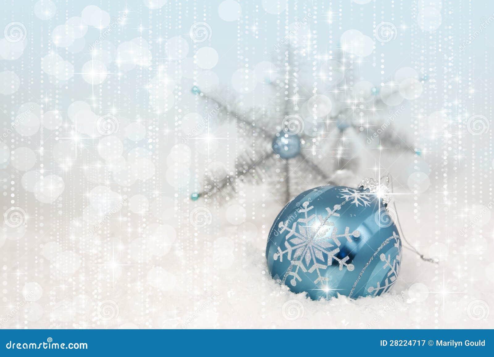 Blue Christmas Ornament Snowflakes