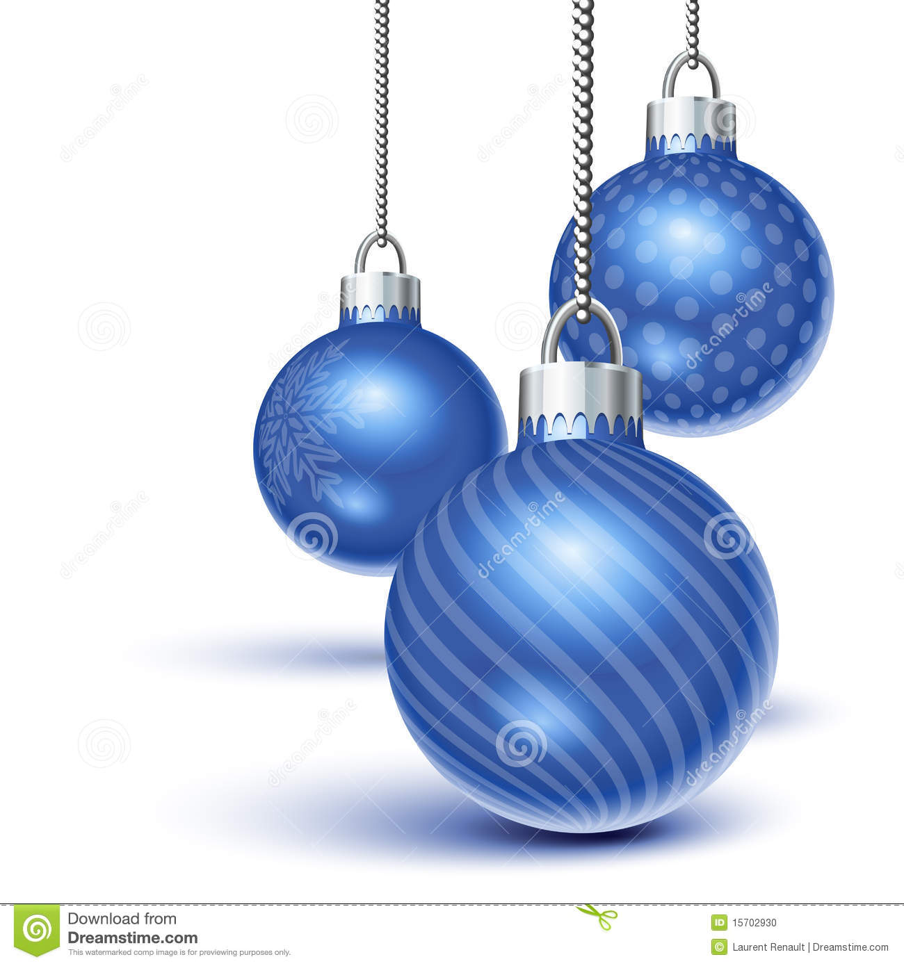 Blue Christmas Ornaments Stock Photo - Image: 15702930