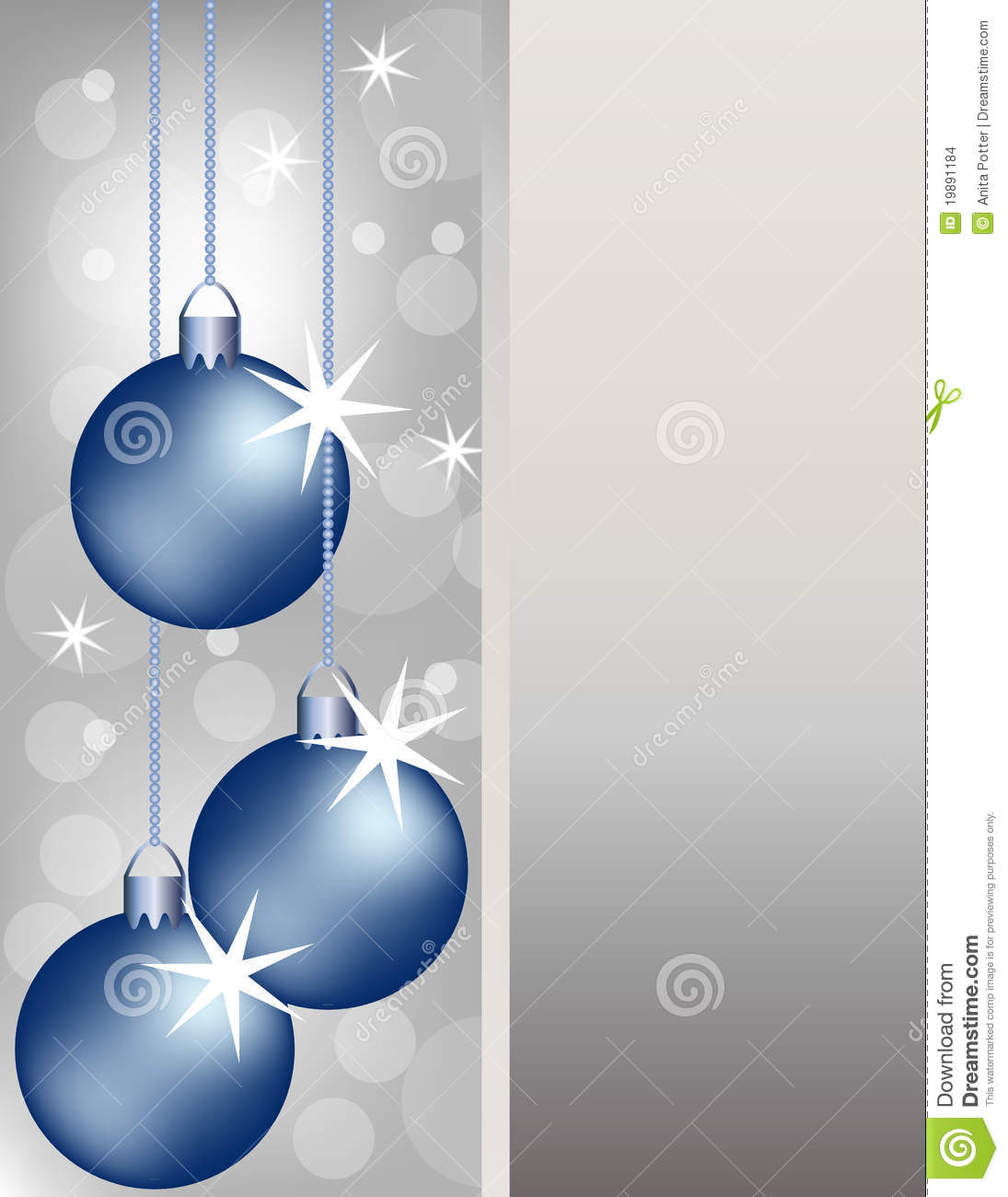 Blue Christmas Ornaments Background Stock Images Image