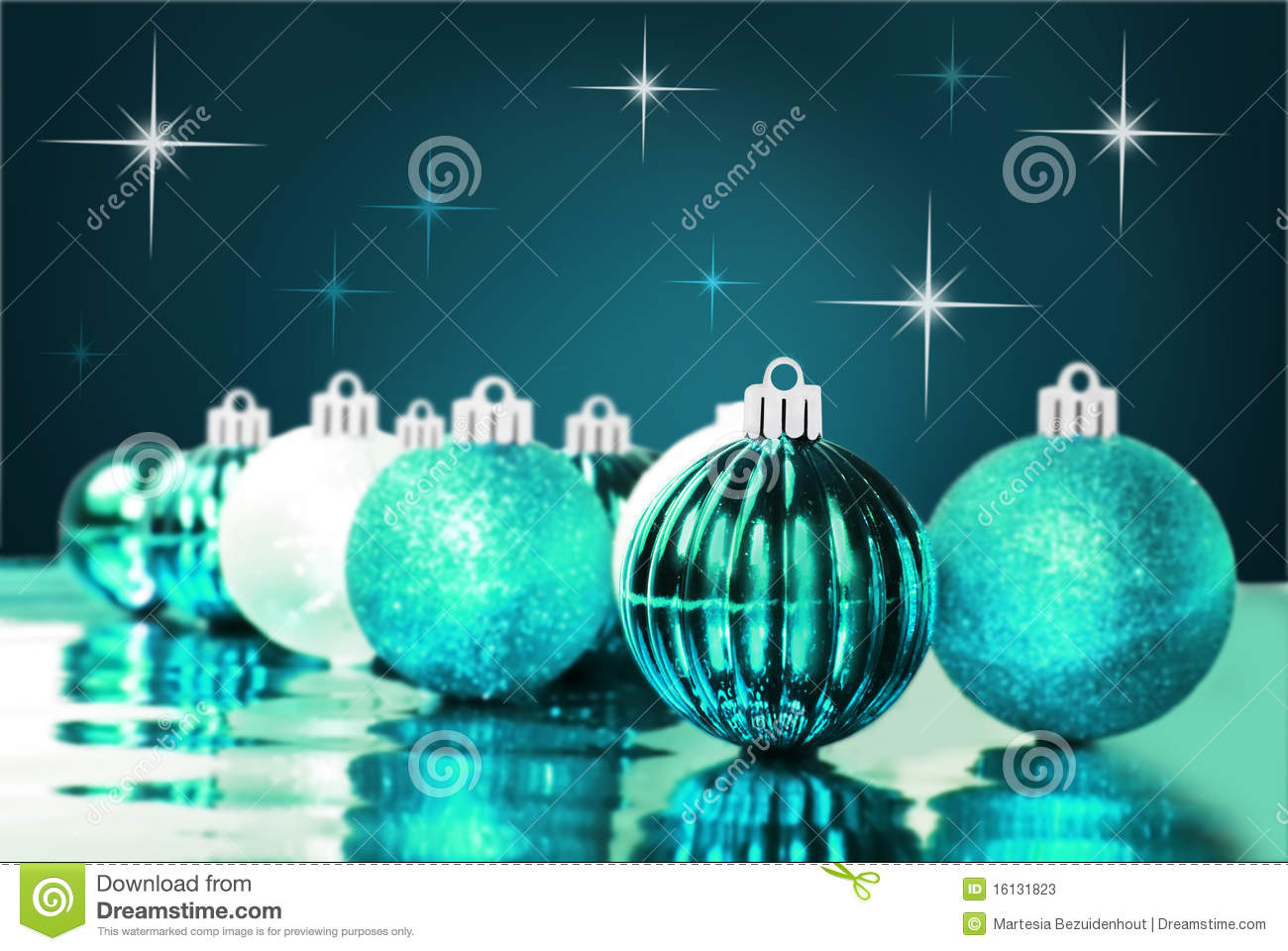 Blue Christmas Ornaments With Star Background Stock Photos ...