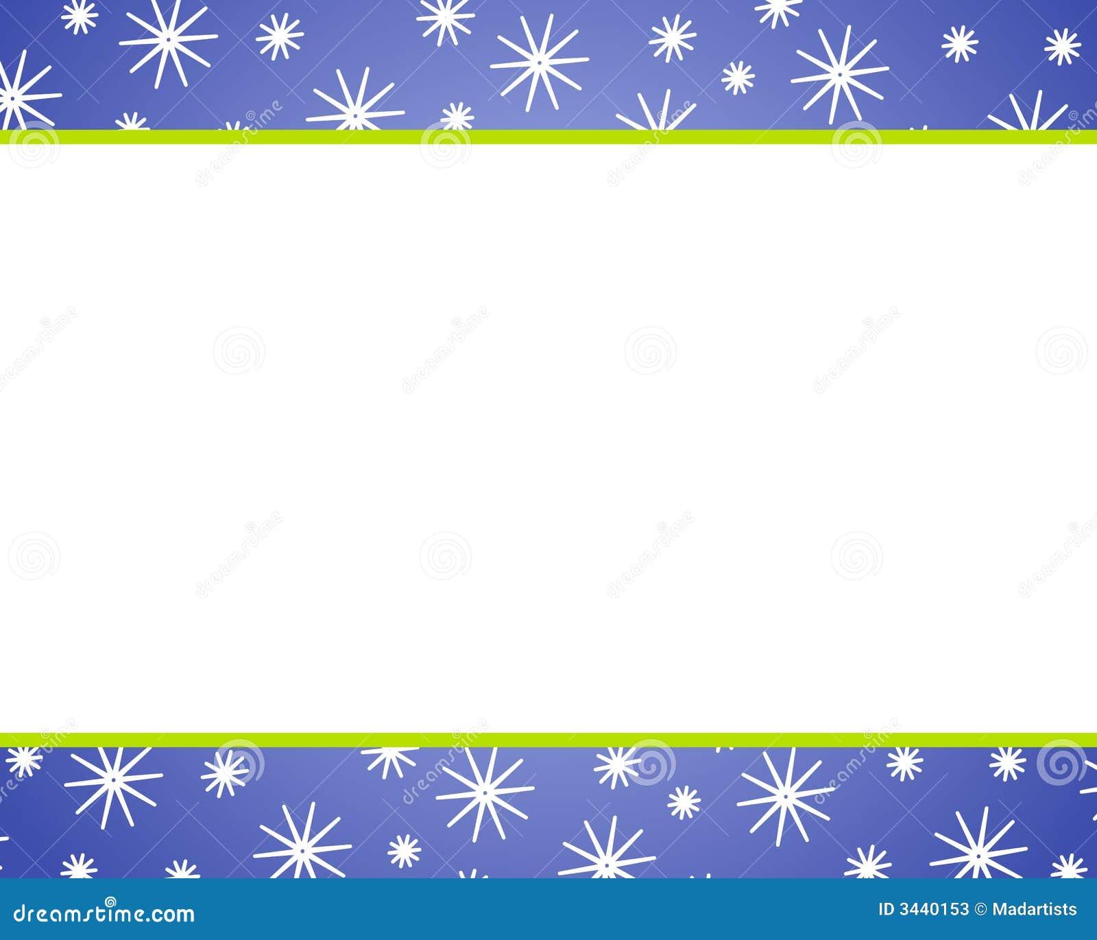 Blue Christmas Snow Borders Stock Photos - Image: 3440153