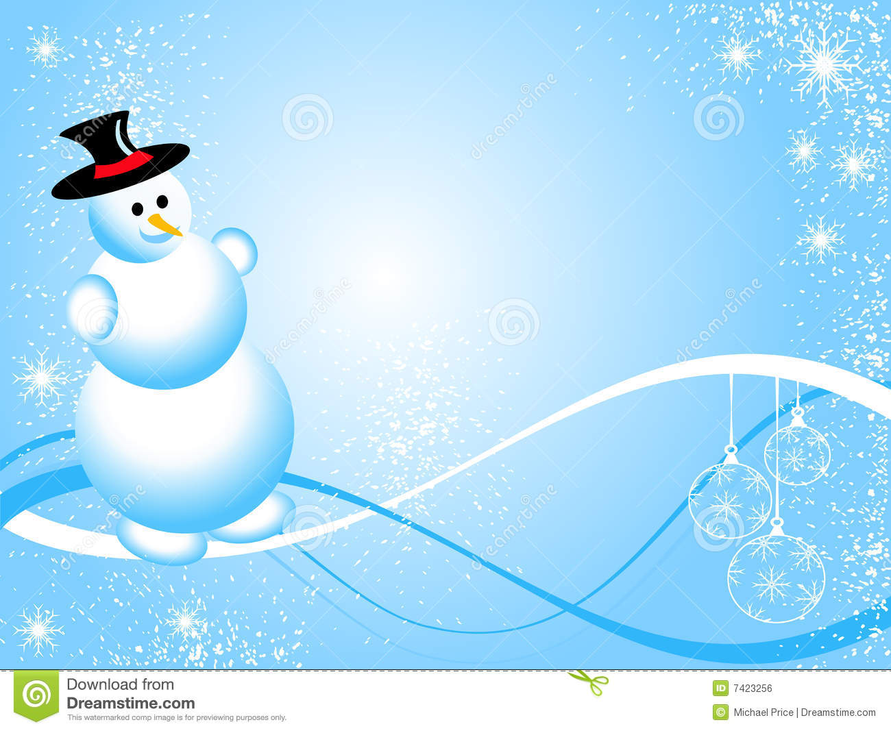 Blue Christmas Snowman Royalty Free Stock Image - Image