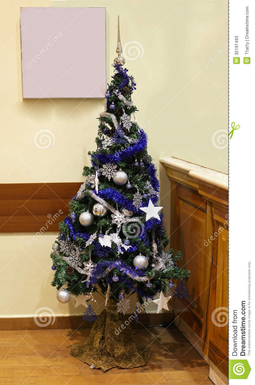 Blue And Silver Christmas Tree Part - 24: Blue Christmas Tree