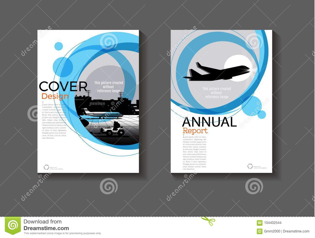 Modern Book Cover Vector : Blue circle abstract background modern cover design