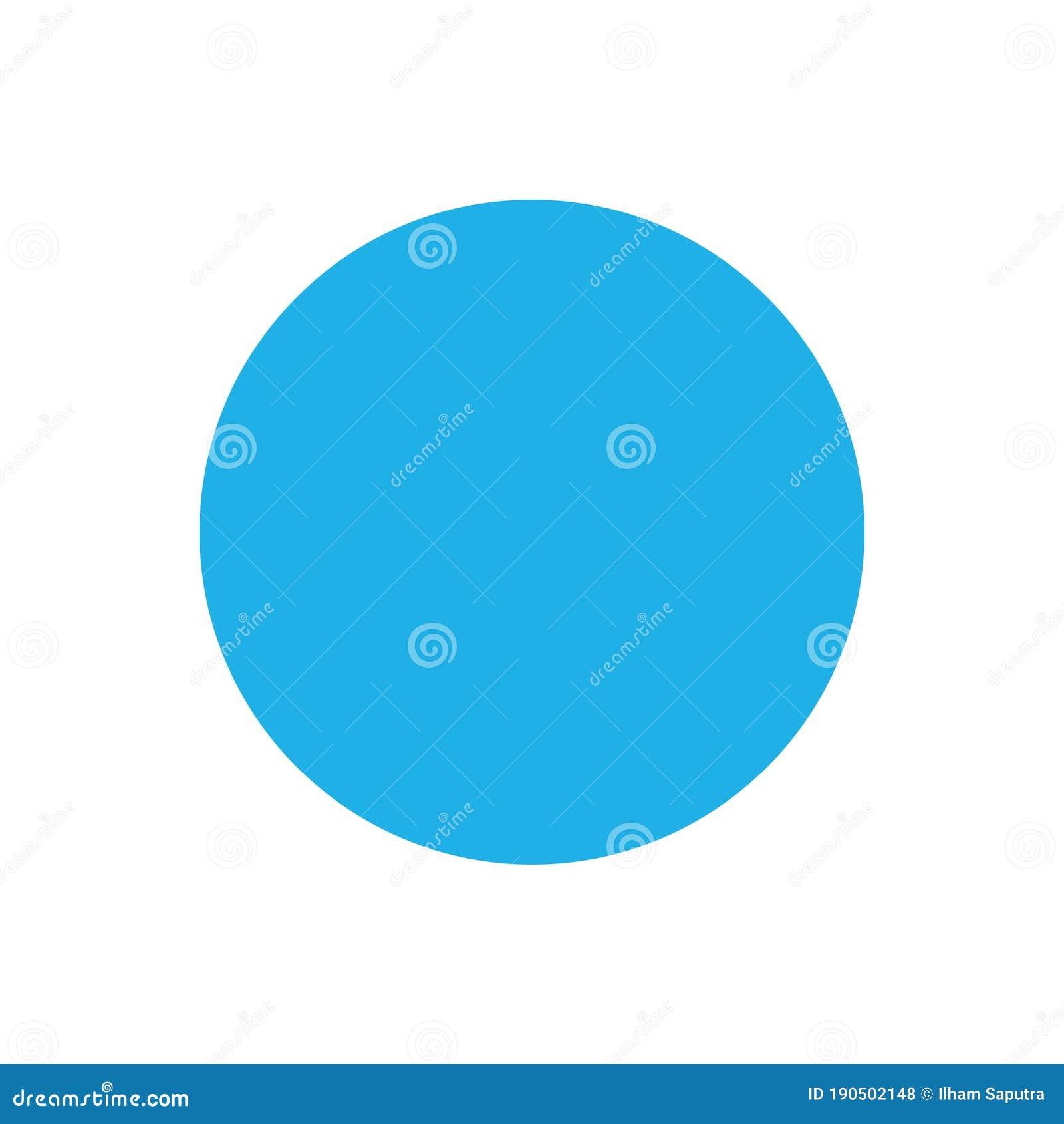 Blue Circleshape:  Blue Circle Basic Simple Shapes Isolated On White
