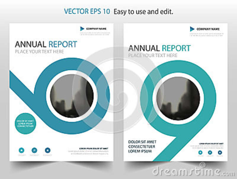 Blue Circle Business Brochure Leaflet Flyer Annual Report Template