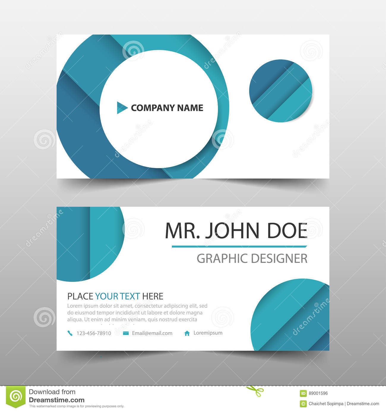 Blue circle corporate business card name card template horizontal download blue circle corporate business card name card template horizontal simple clean layout design wajeb Images
