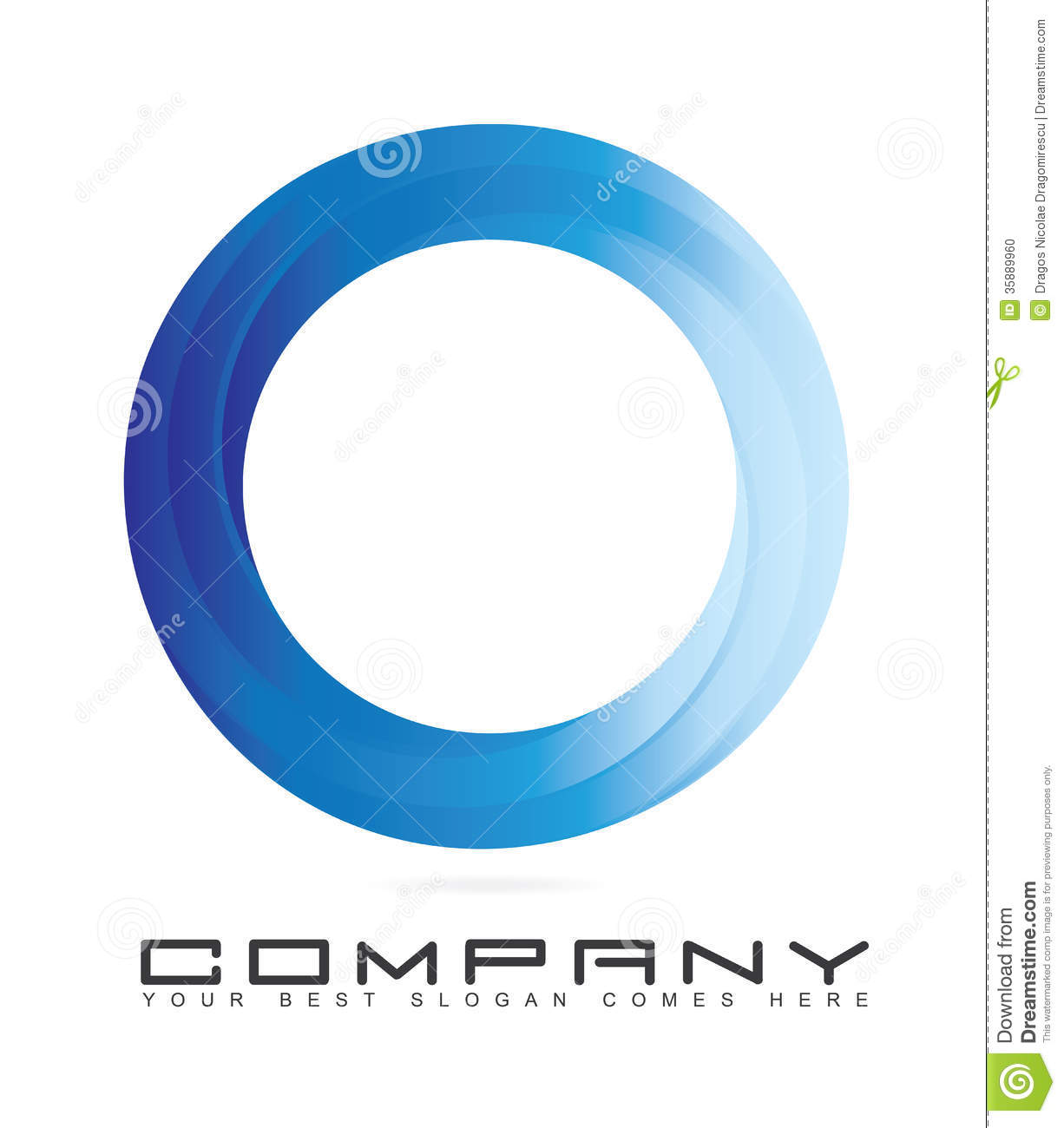 Blue Circle Logo with 3d Look  Z Logo Blue Circle