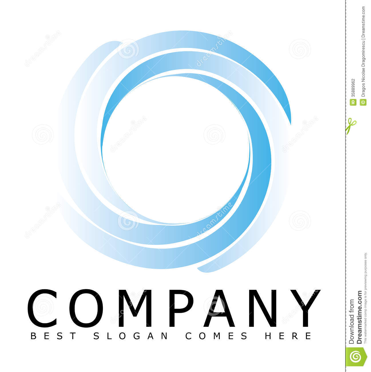 Blue Sphere Circle Logo With A 3D Look Royalty Free Stock Images ...