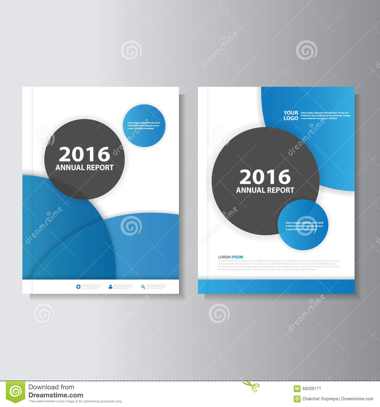 Blue Circle Vector Annual Report Leaflet Brochure Flyer Template Design,  Book Cover Layout Design, Abstract Blue Presentation  Annual Report Template Design