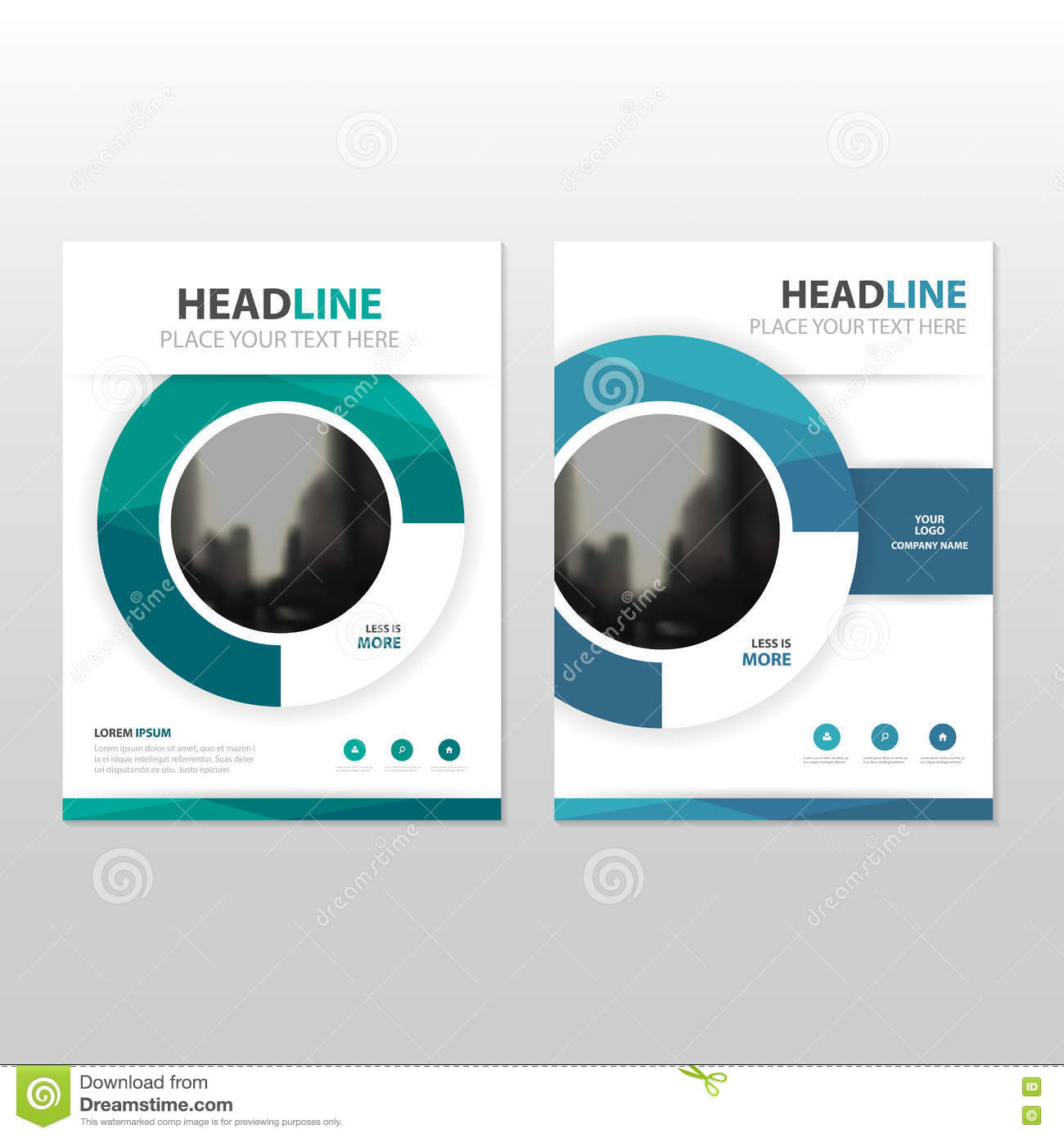 blue circle vector annual report leaflet brochure flyer template design book cover layout design
