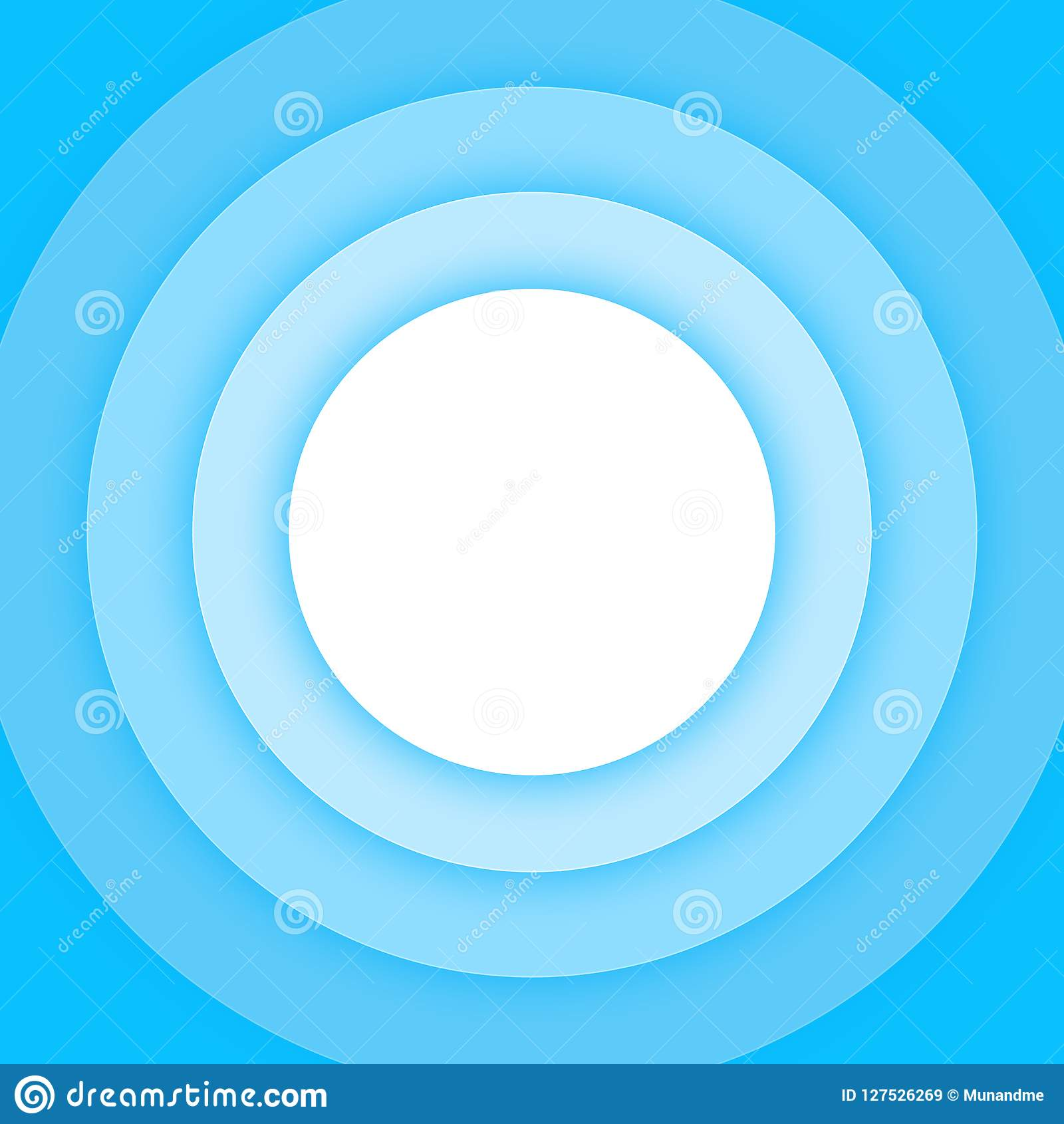 Blue Circles Overlap With Drop Shadow Background Stock