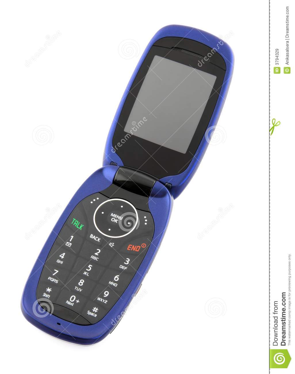 blue clamshell cell phone royalty free stock images   image 3794329