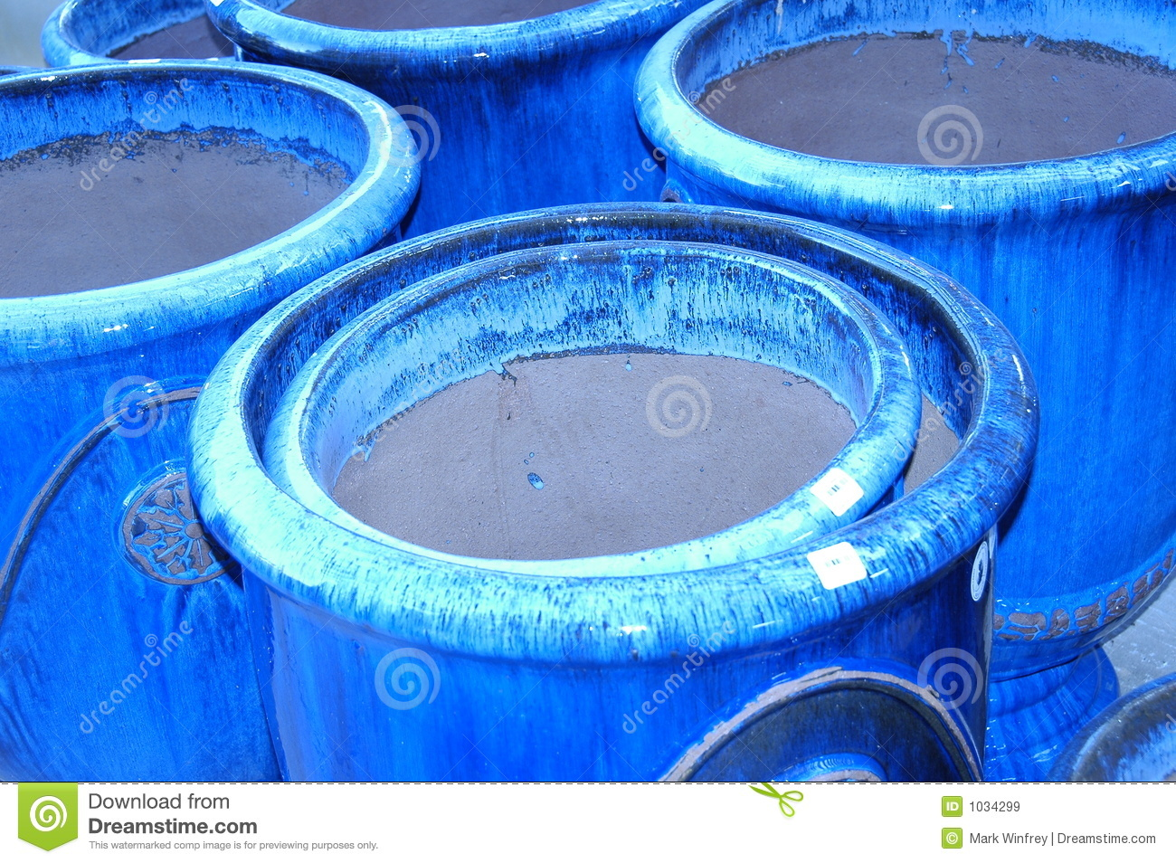 Blue Clay Pots Royalty Free Stock Images Image 1034299