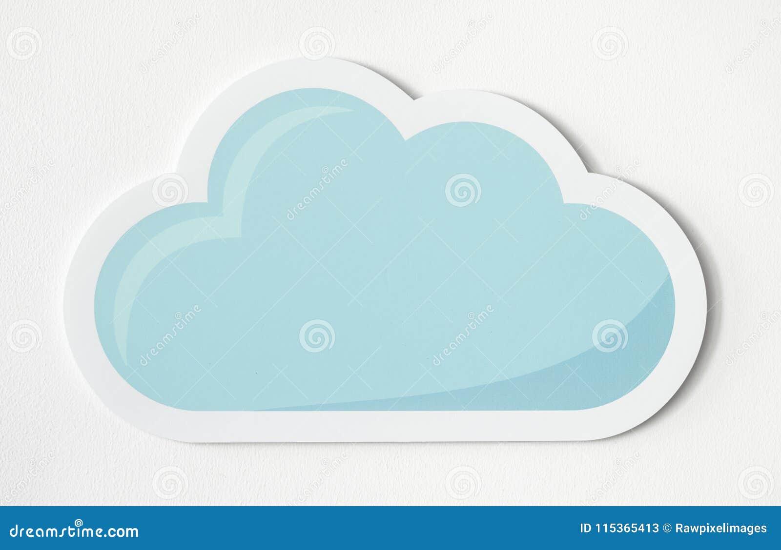 photo regarding Printable Clouds Cut Out known as cloud slash out -