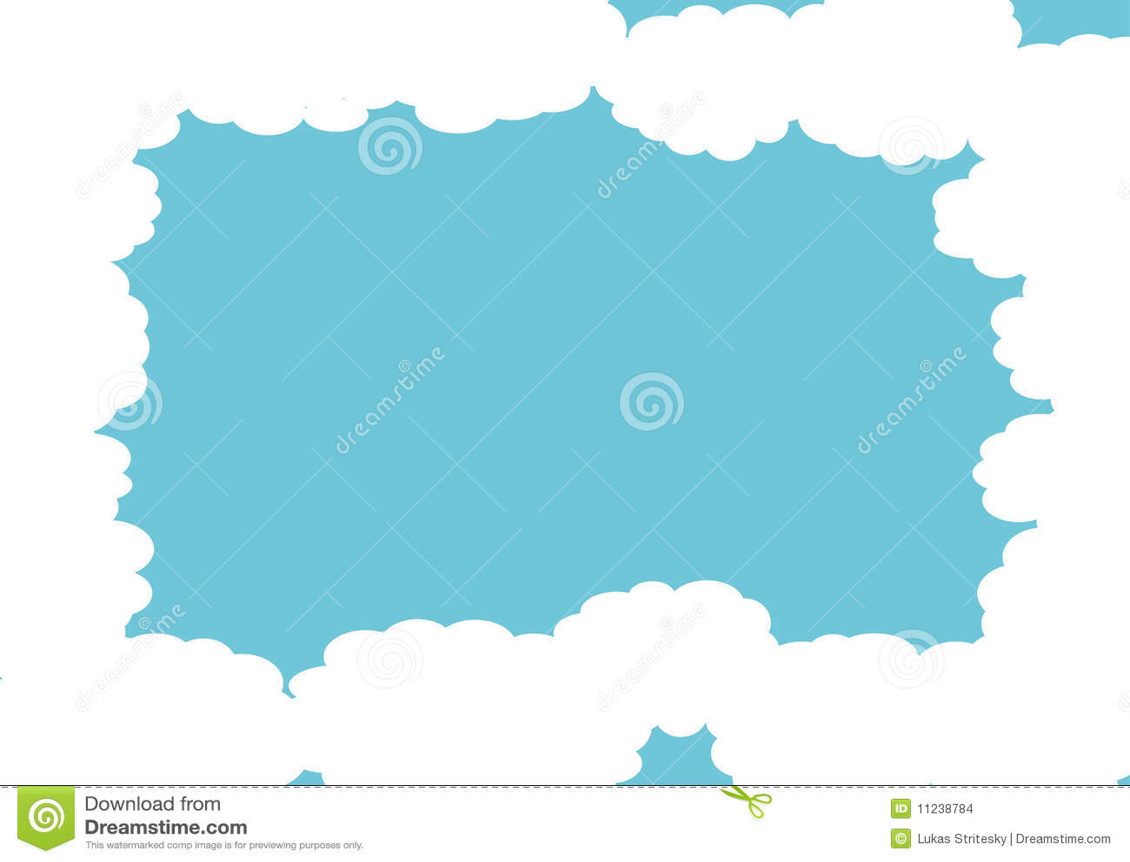 blue cloud frame