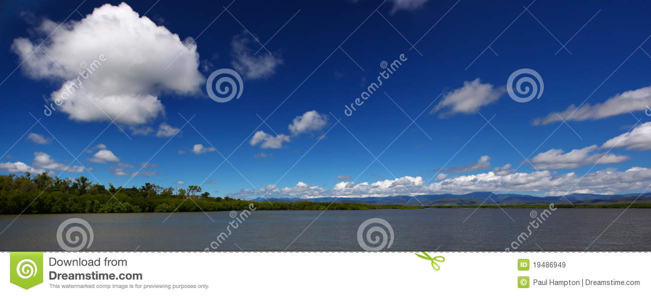 Blue Cloudy Sky Panorama Royalty Free Stock Images - Image ...
