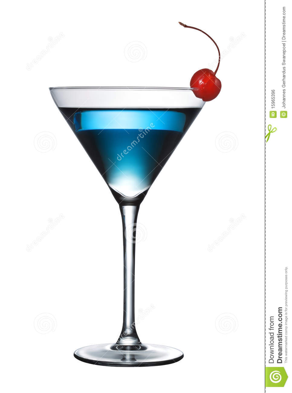 Blue cocktail isolated (pen path included)