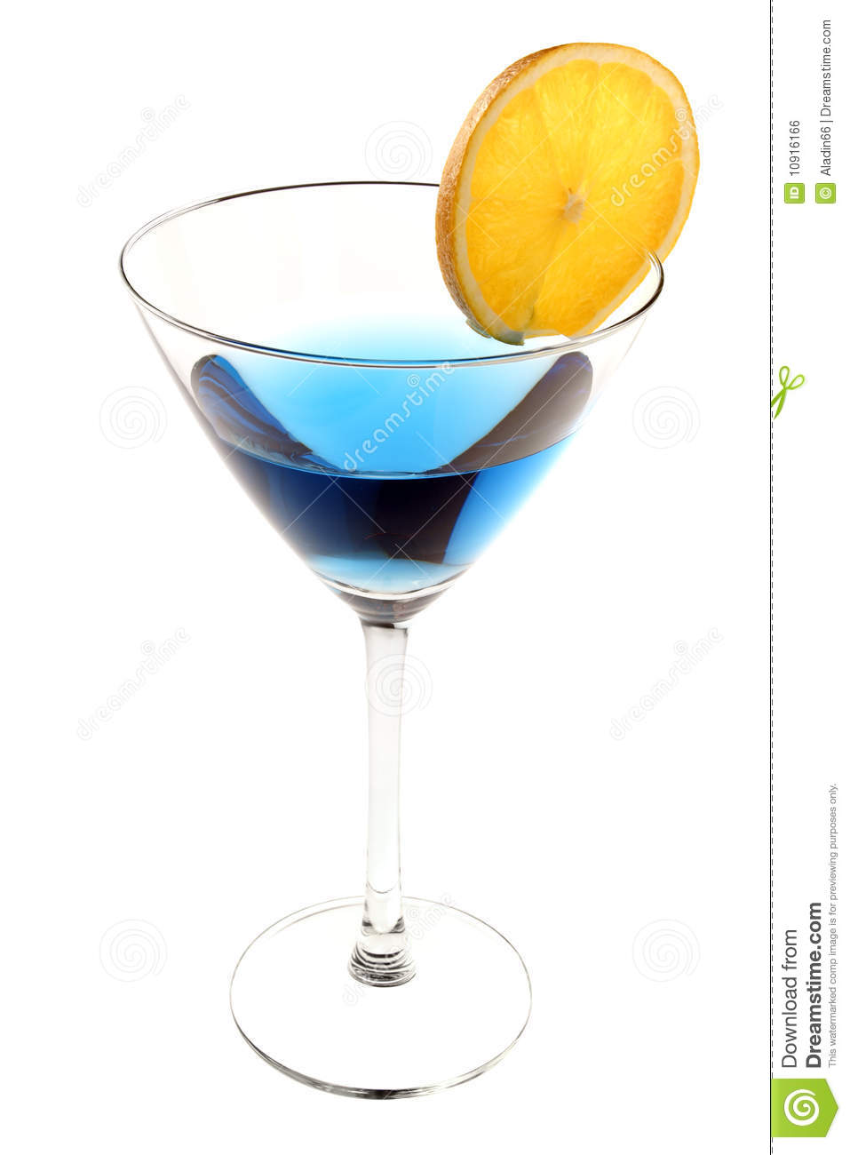 Blue cocktail with slice of orange royalty free stock for Orange and blue cocktails