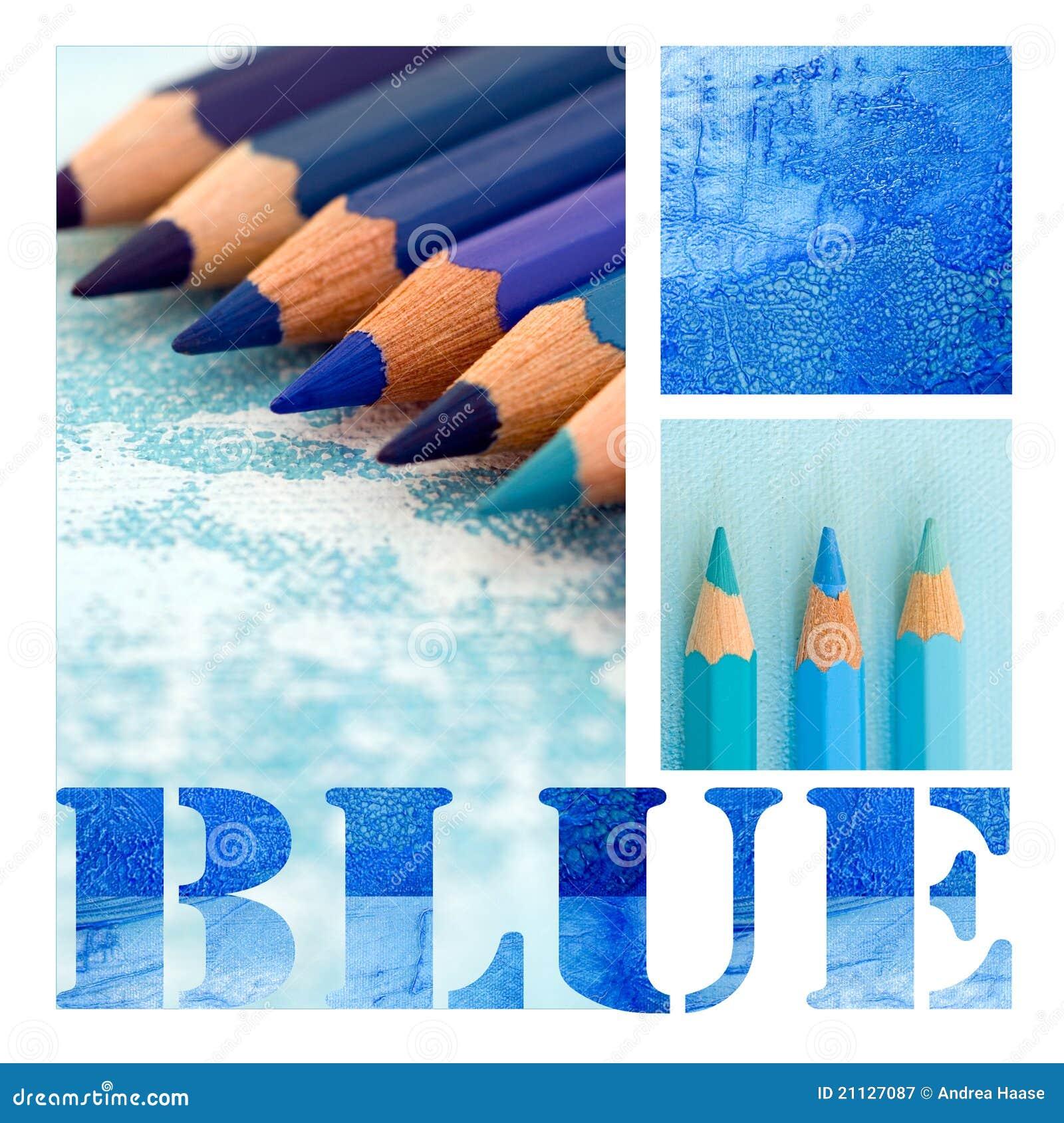 blue collage stock illustration illustration of equipment 21127087