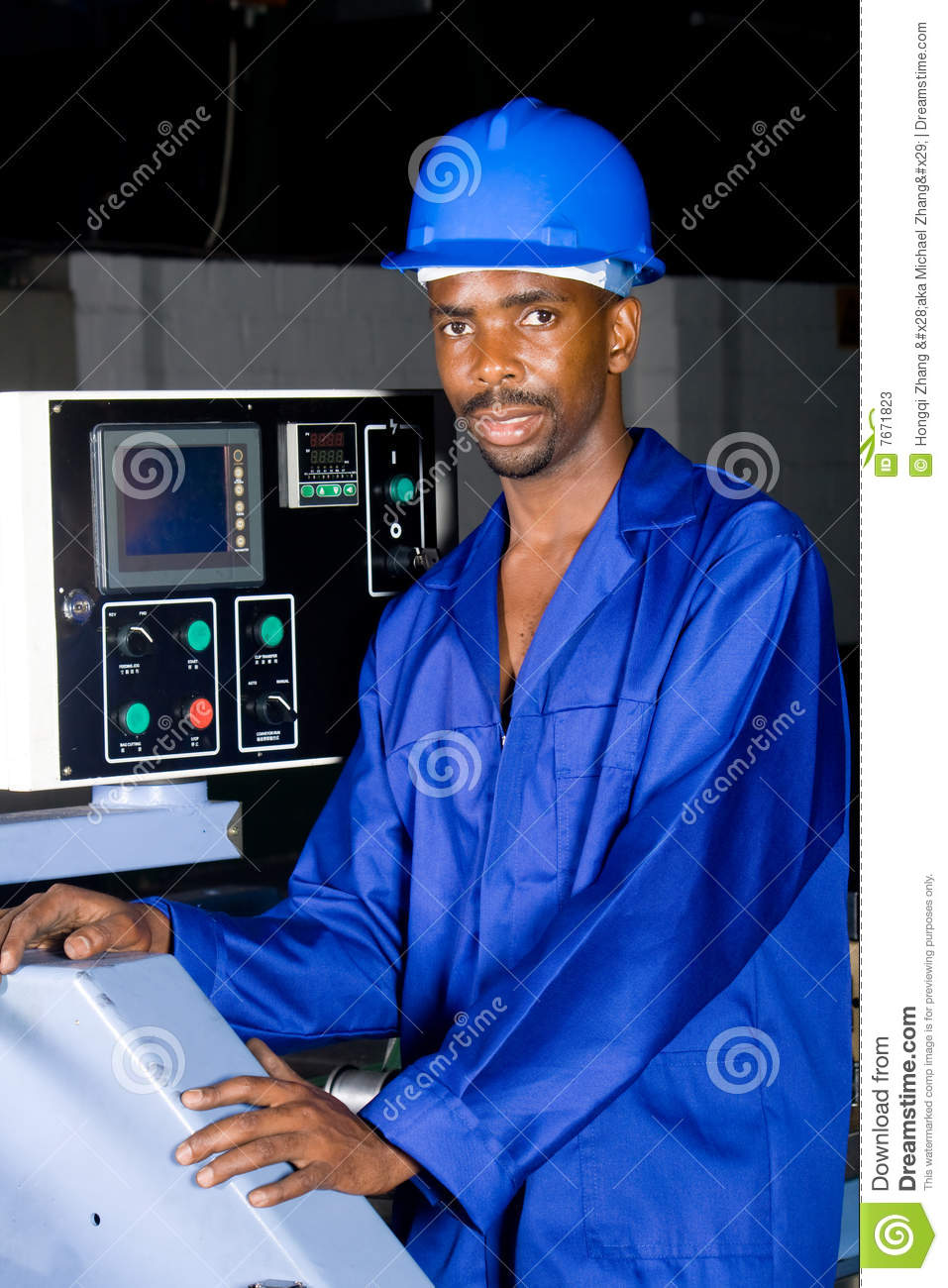 Blue collar worker