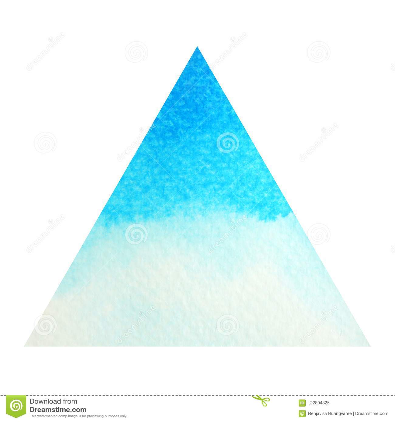 Blue color of chakra symbol throat concept, watercolor painting