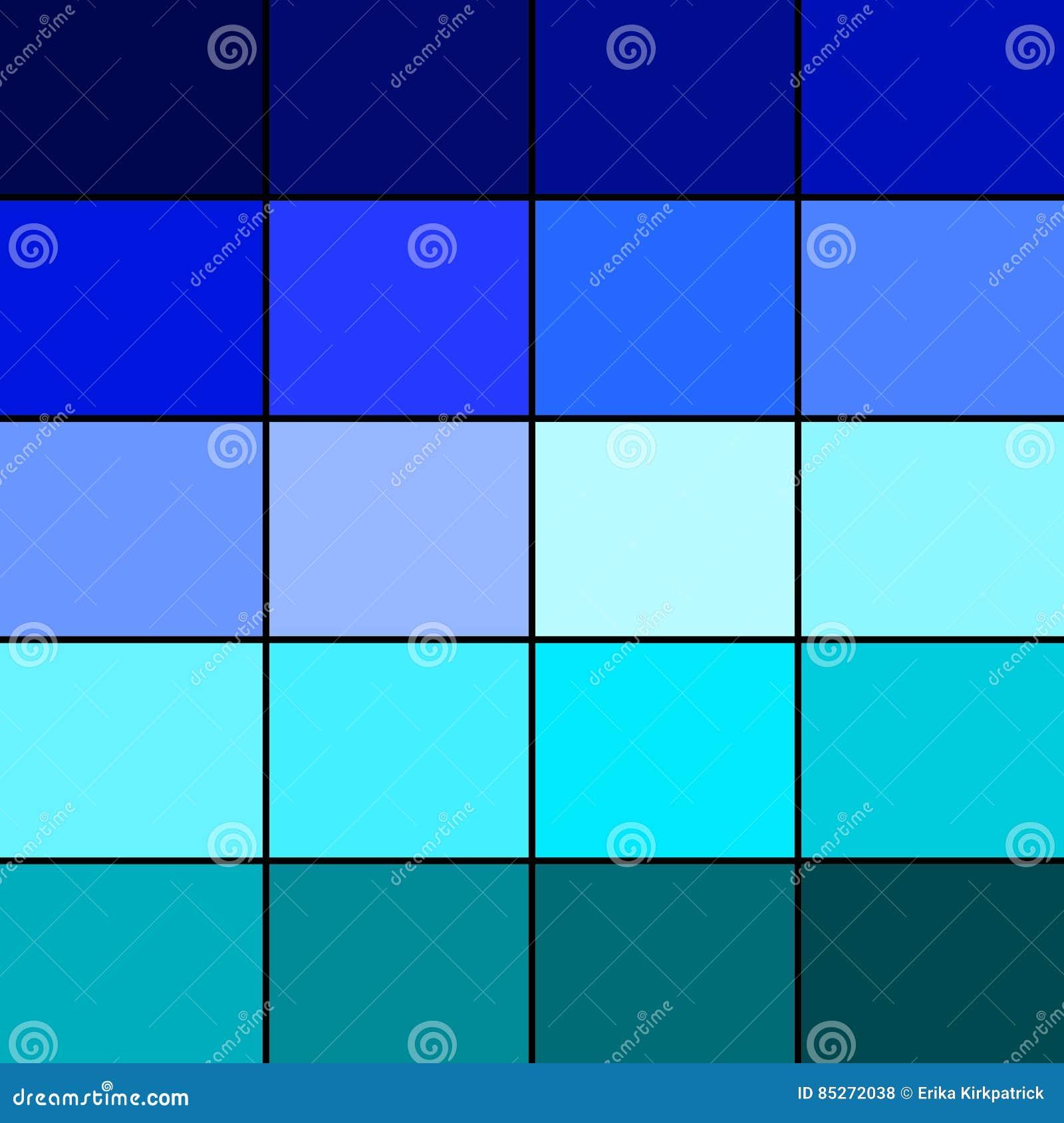 Blue Color Palette Stock Illustration - Image: 85272038