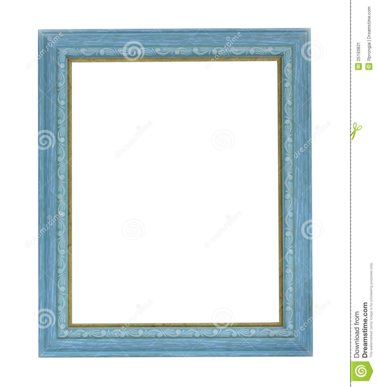 Blue Color Picture Frame Stock Image Image Of Background