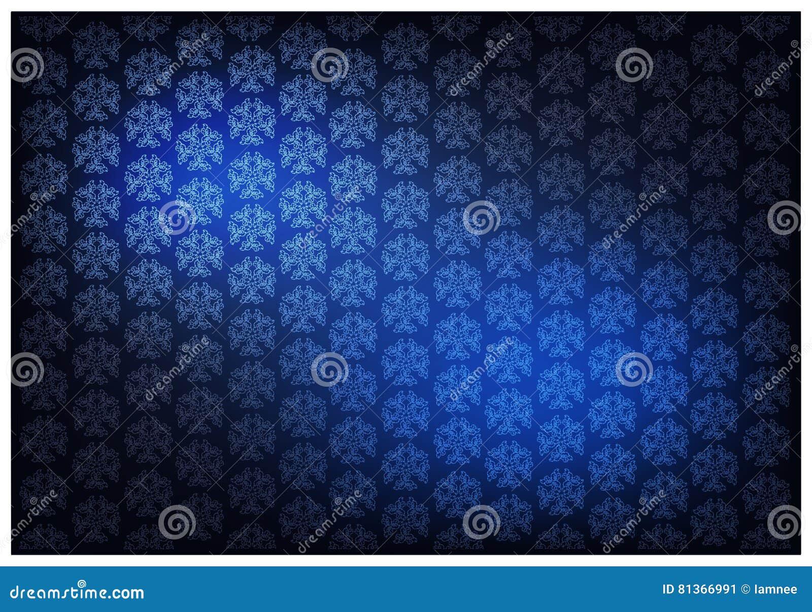 Blue Color Of Thai Vintage Wallpaper Pattern Background