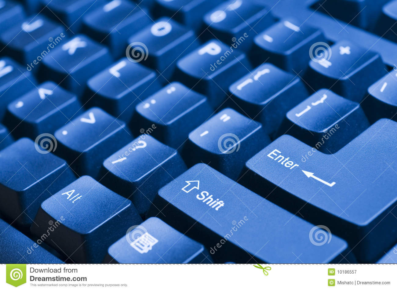 Blue Computer Keyboard Royalty Free Stock Photography - Image ...