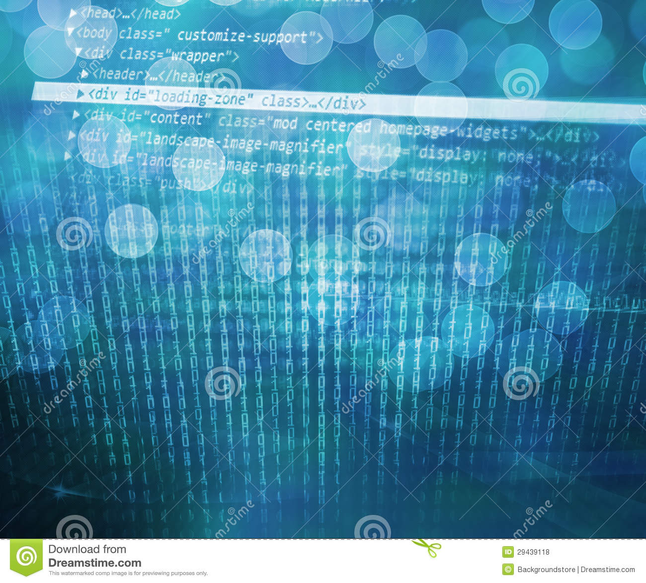 Computer Science: Blue Computer Science Abstract Background Royalty Free