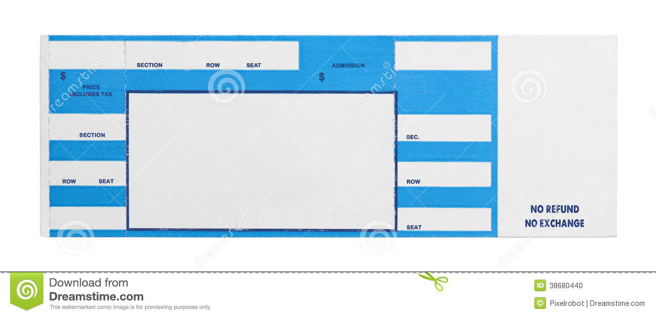 Blue Concert Ticket  Event Ticket Template Free Download
