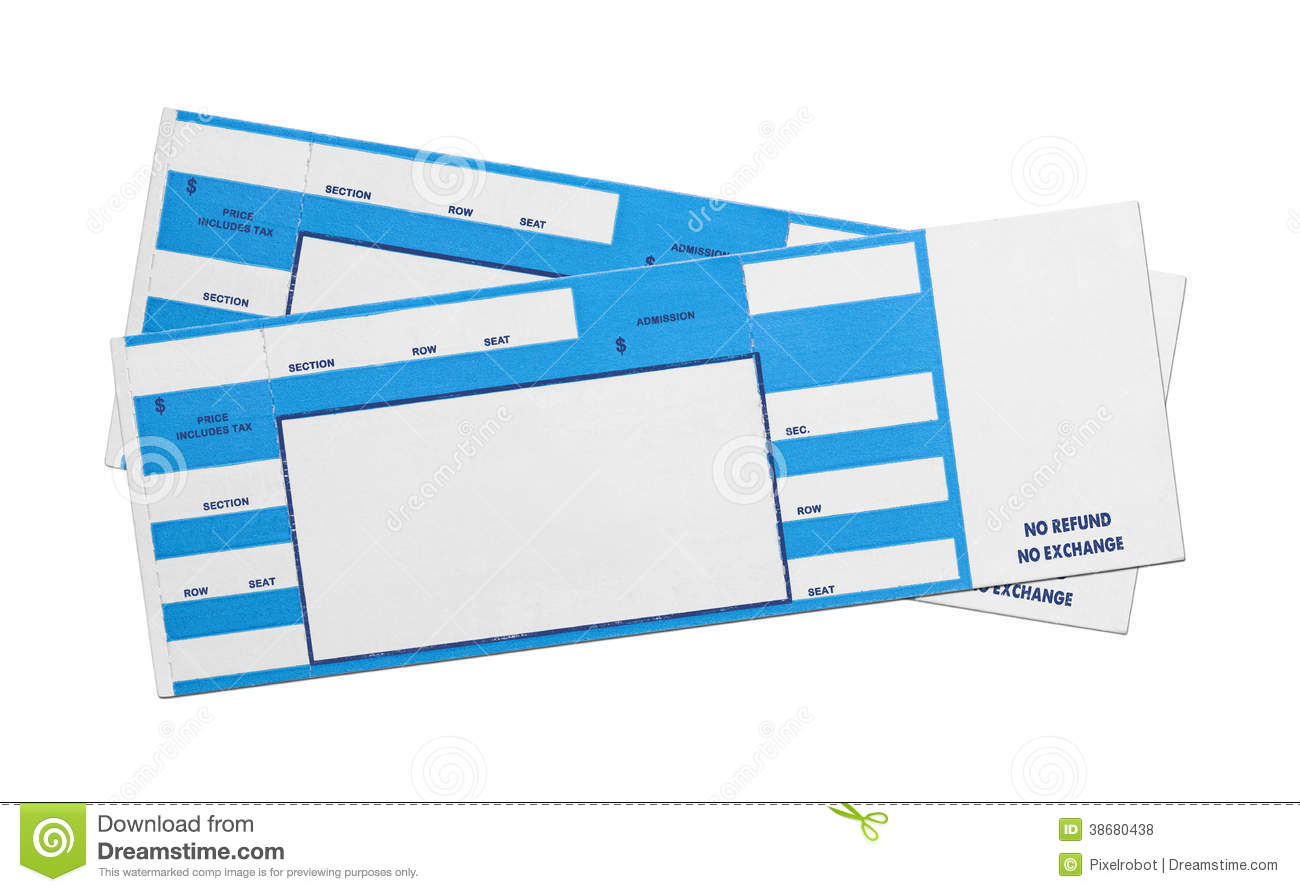 Blue Concert Tickets  Play Ticket Template