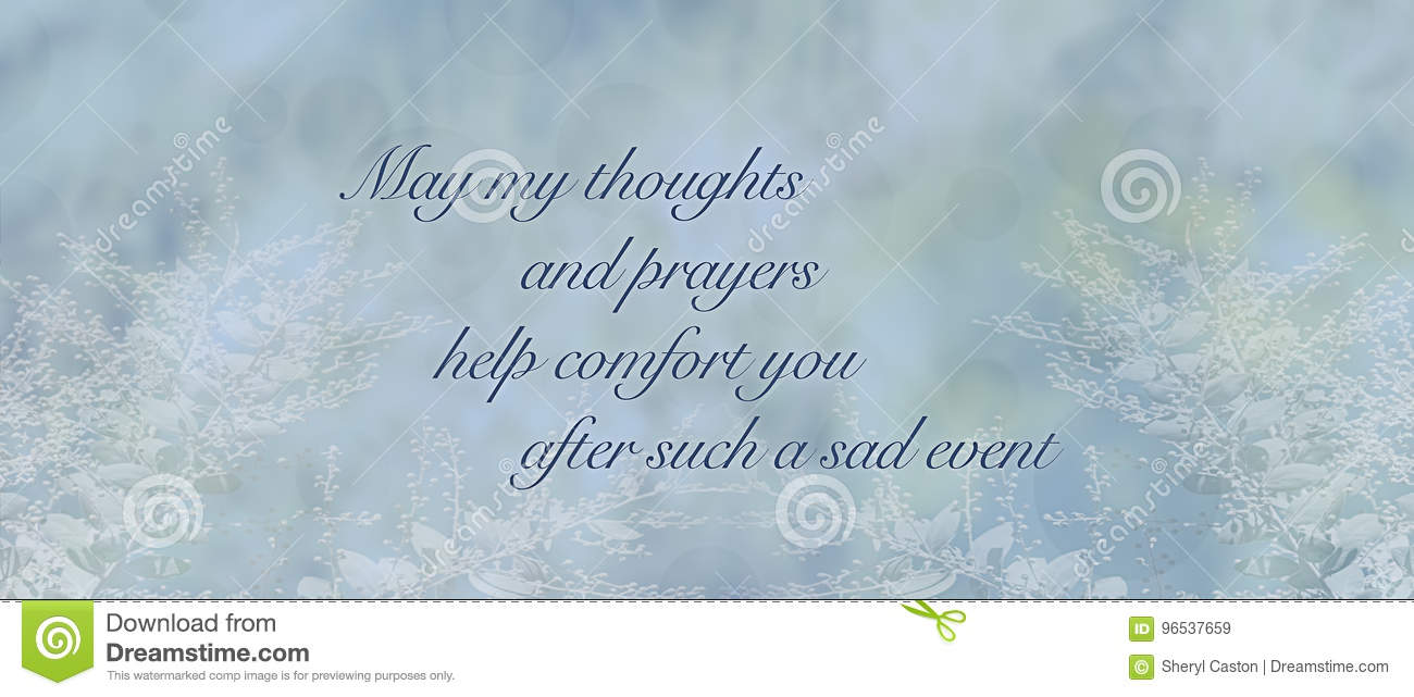 Blue Condolence Sympathy Card Background Stock Illustration
