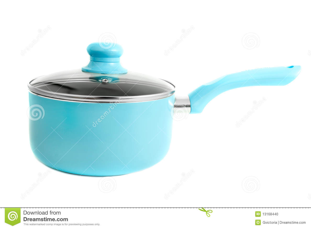 Blue Cooking Pot Stock Photo Image 13168440