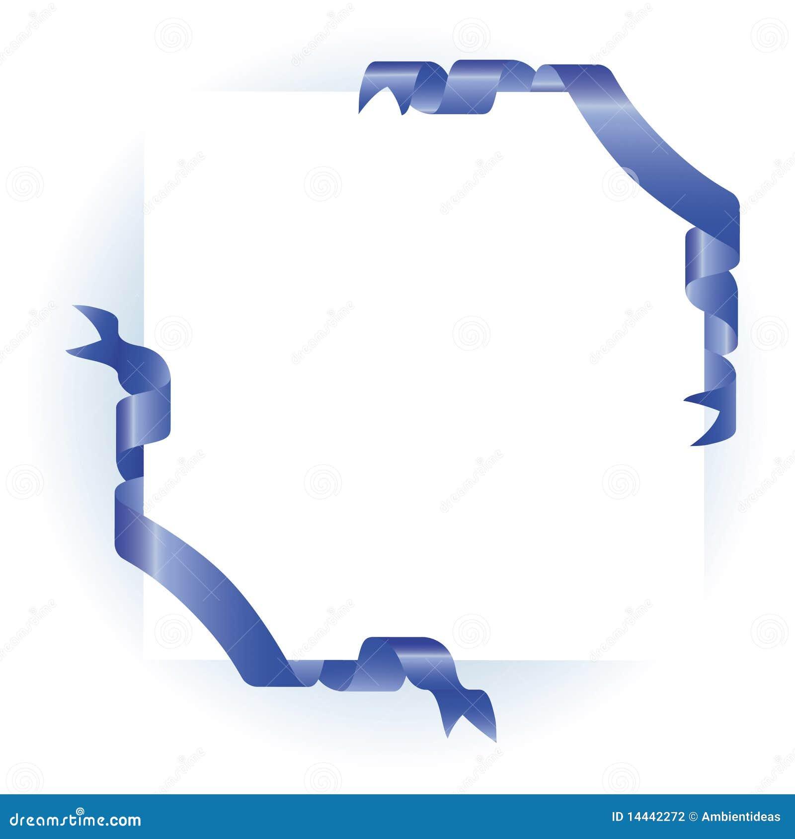 Blue Corner Ribbon Design Stock Photography - Image: 14442272