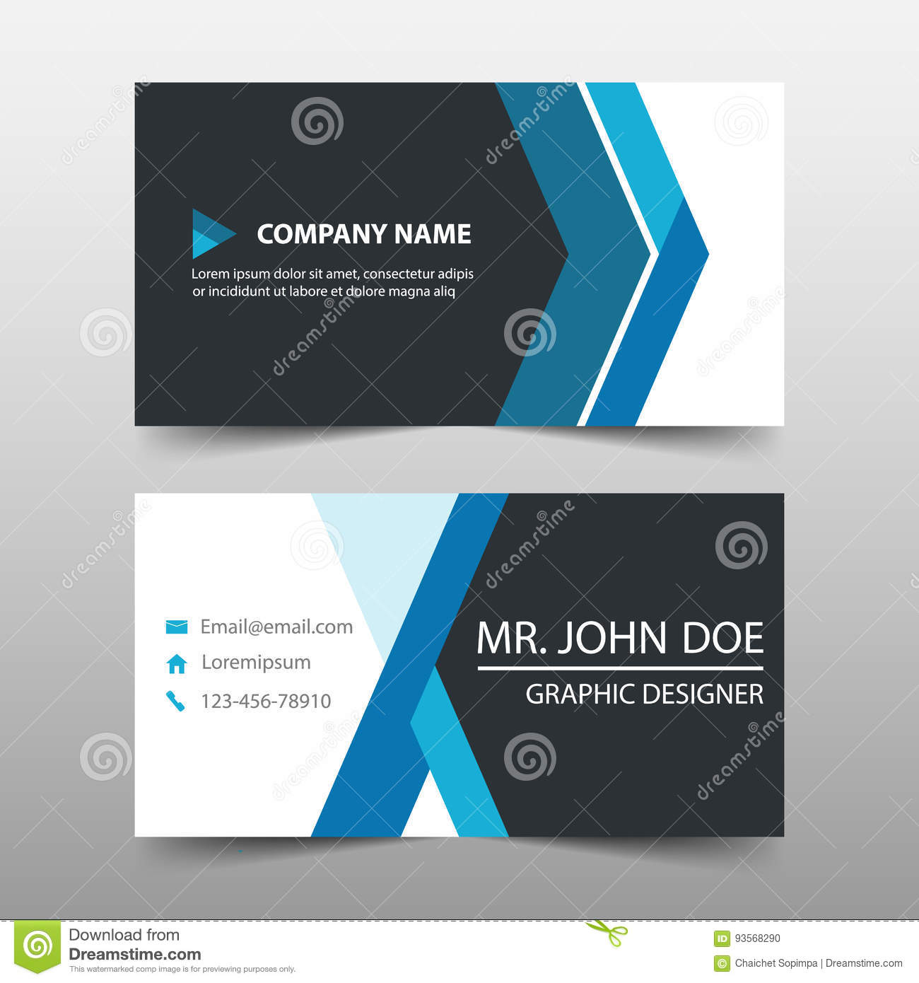 Blue corporate business card name card template horizontal simple blue corporate business card name card template horizontal simple clean layout design template cheaphphosting Image collections