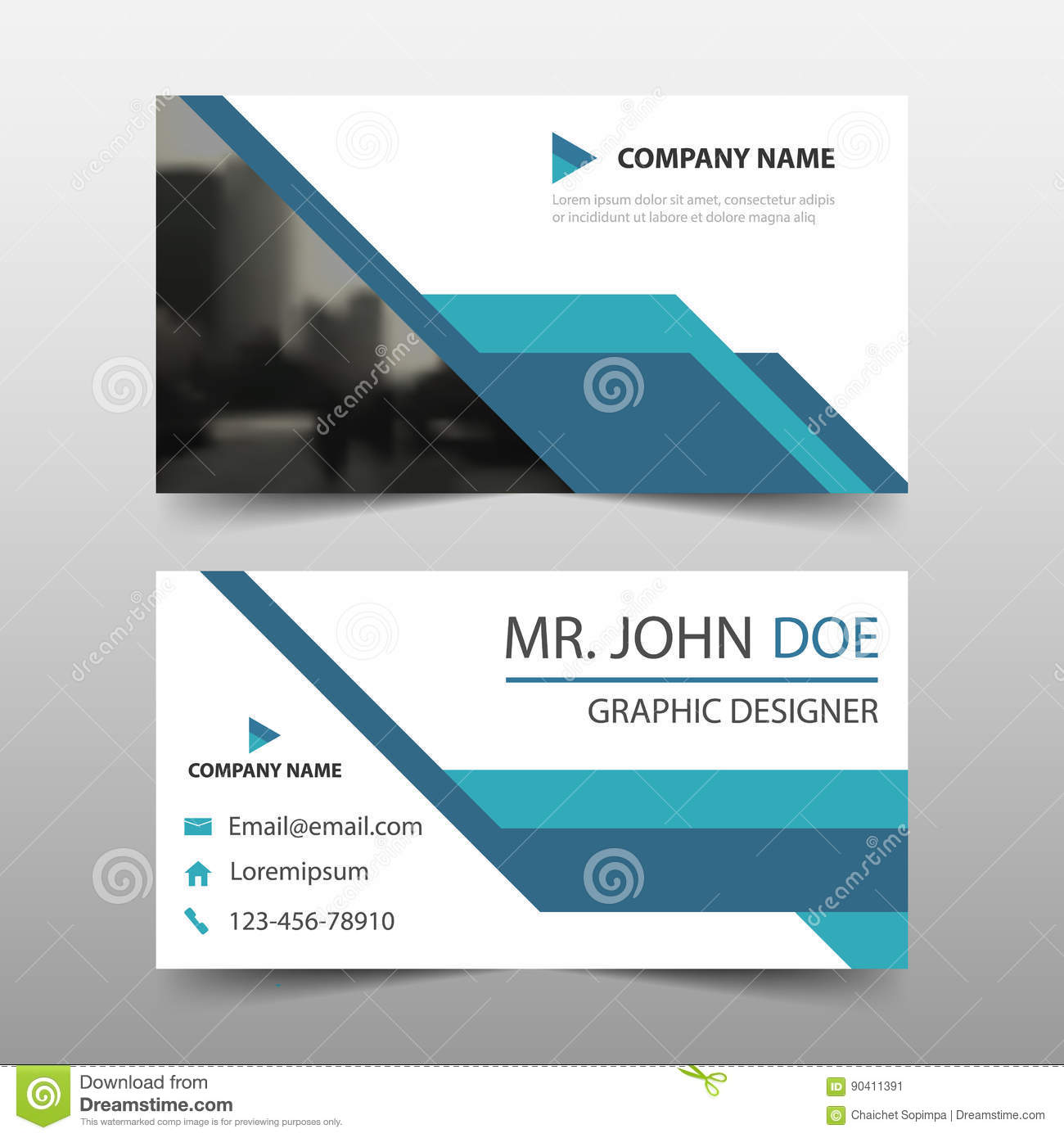 Blue corporate business card name card template horizontal simple blue corporate business card name card template horizontal simple clean layout design template accmission Gallery