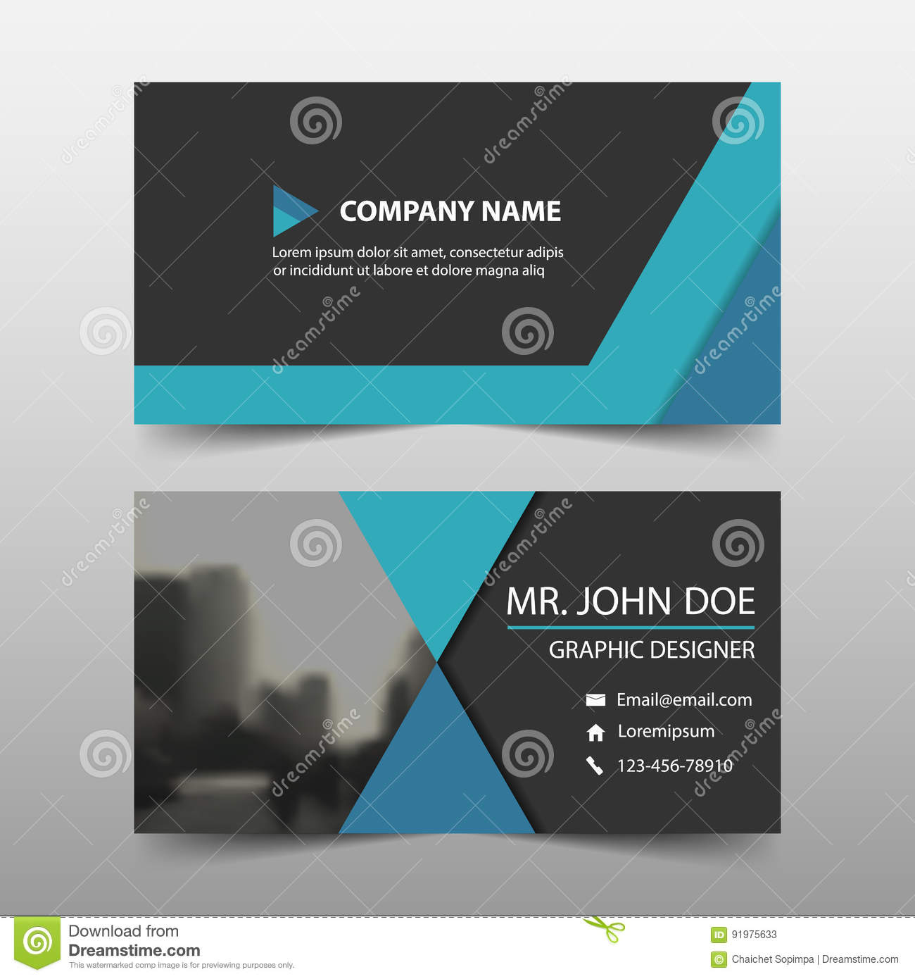 Blue corporate business card name card template horizontal simple download blue corporate business card name card template horizontal simple clean layout design template flashek Gallery