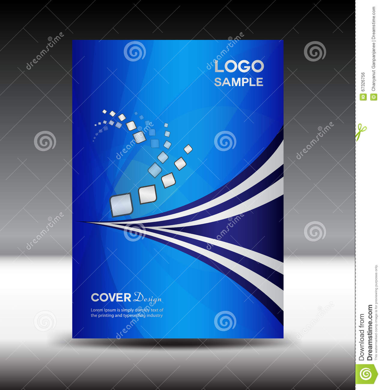 blue cover design and cover annual report vector illustration stock vector image 67326756. Black Bedroom Furniture Sets. Home Design Ideas