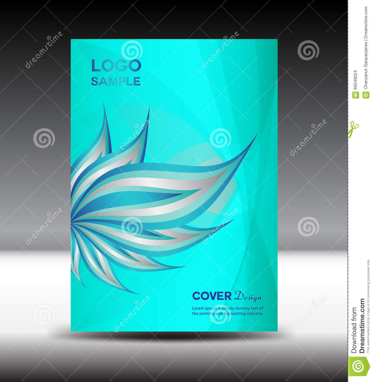 blue cover design template vector brochure white cover design blue cover design template vector brochure white cover design vector illustration